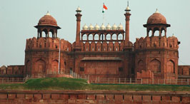 golden triangle red fort