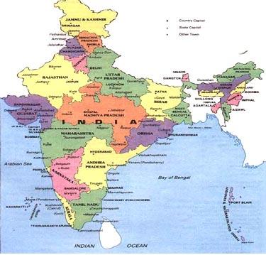 itinerario de la india map
