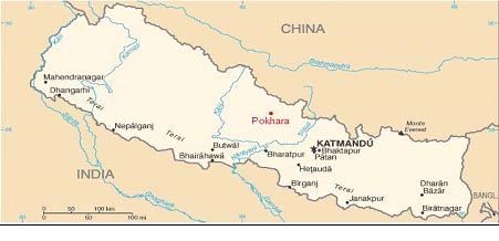itinerario de la map nepal
