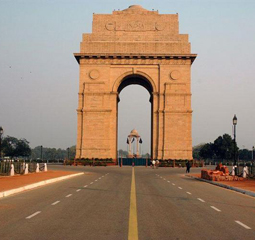 golden triangle india gate delhi