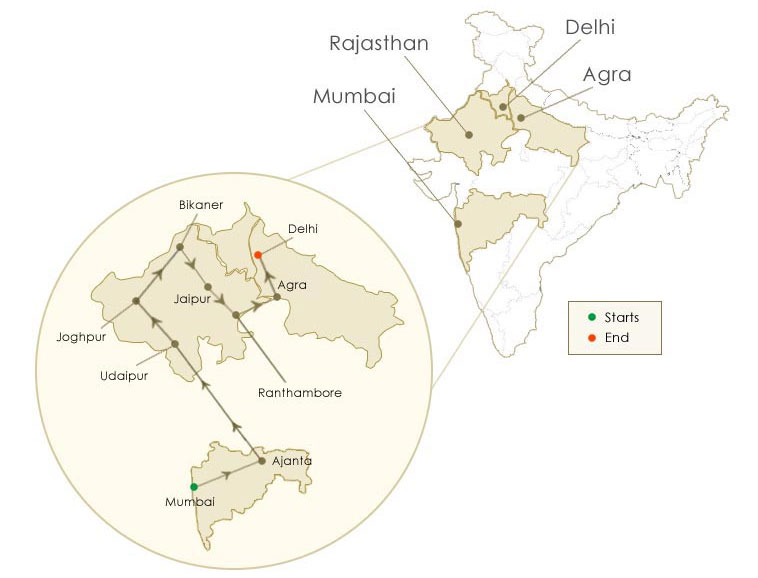 maharaha express heritage of india route map