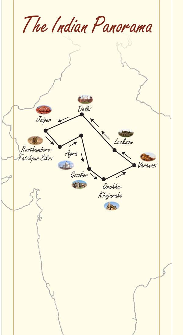 maharaha express indian panorama route map