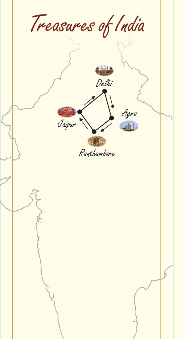 maharaha express treasure of india route map